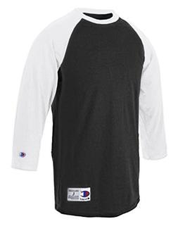 Champion Cotton Tagless Raglan 3/4 Sleeve Baseball T-shirt