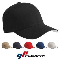 Flexfit Cotton Twill Baseball Cap Fitted Ballcap Plain Blank