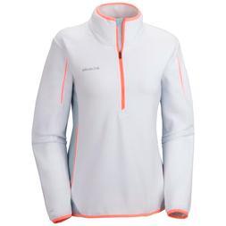 Columbia Women's Crosslight Half Zip Fleece Jacket - White