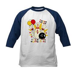 CafePress - Cute Bowling Pin 6th Birthday Kids Baseball Jers