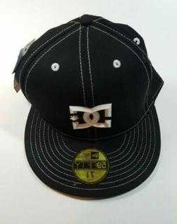 DC Shoes New Era 59Fifty Black Flat Bill Baseball Cap Fitted