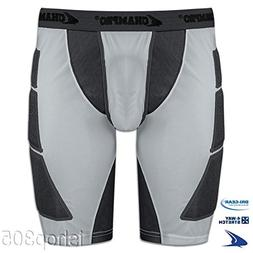 CHAMPRO Men's On Deck Sliding Short Gray Medium