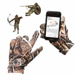 Decoypro Touchscreen Lightweight Hunting Gloves For Men Camo