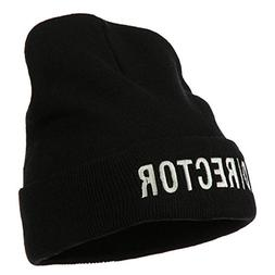 Director Embroidered Long Beanie - Black OSFM