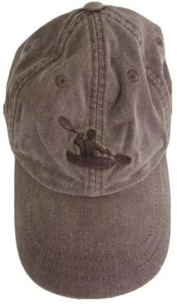 Adams Distressed Gray Baseball Cap Kayaker Paddling Embroide