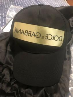 Dolce Gabbana Baseball Cap Hat Metallic Gold Tape Mens Size
