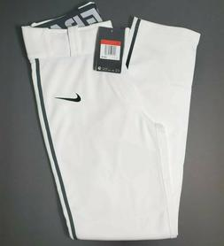 Nike Dri-Fit White Baseball Pants Black Piping Boys Youth Si