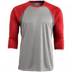 Champro Mens Dri-Gear 3/4 Sleeve Extra Innings T-Shirt Scarl