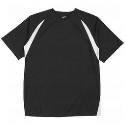 Champro Adult T-Shirt Baseball Jersey - Black/White - 3X-Lar