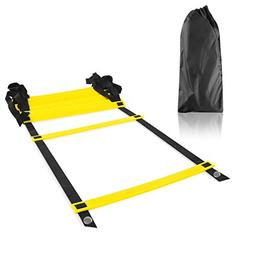 Image Durable Adjustable Flat 8-Rung Agility Training Ladder