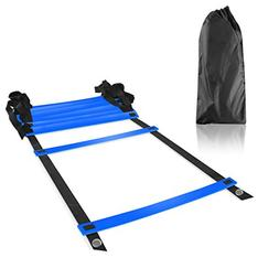 Image Durable Adjustable Flat 8-Rung Agility Training Ladder