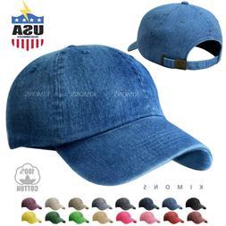 Dyed Washed Cotton New Plain Polo Style Baseball Ball Cap Ha