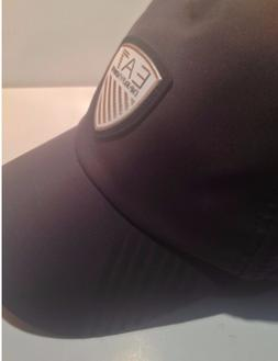 EA7 Emporio Armani Black Soccer Baseball Cap/Hat