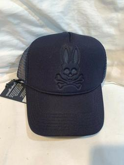 Psycho Bunny Embossed Baseball Navy Blue Men's Cap B6A977B1H