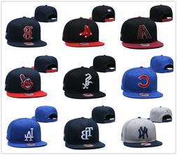 Embroidered Baseball Cap Snapback Adjustable MLB Team Logo H