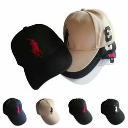 Embroidered Horse Pony Polo Cap Classic Unisex Baseball Cap