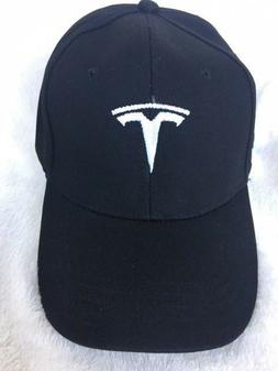 Embroidered TESLA Logo Baseball Cap Hat Sport Racing black M