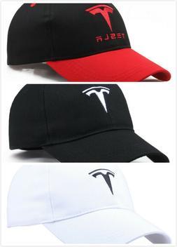Embroidered TESLA Logo Baseball Cap Sport Hat Racing Cap Mod