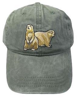 ECO Wear Embroidered Wildlife Prairie Dog Baseball Cap