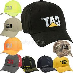 Caterpillar Hats Men CAT Logo Adjustable Baseball Cap Cotton