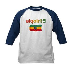 CafePress - Ethiopia Flag Design Kids Baseball Jersey - Kids