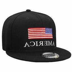 Falari USA American Flag Printed Baseball Cap Snapback Adjus