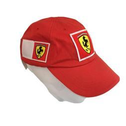 FILA Ferrari Red Cotton Baseball Cap Mens Made in Italy Size
