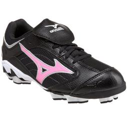 Mizuno Women's Finch Franchise G3 Softball Cleat,Black/Pink,