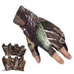 Fingerless Hunting Oak <font><b>Camo</b></font> Gel Fish <fo