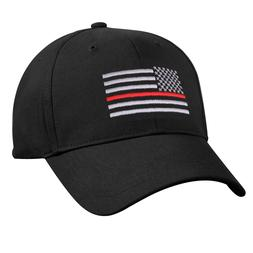 Firefighter Fire Rescue Cap Thin Red Line on USA Flag Embroi
