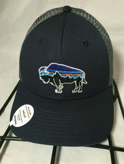 Patagonia Fitz Roy Bison Trucker Hat Dad Cap Navy Blue Mid C