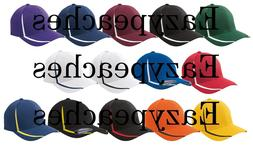 FLEXFIT Structured COLORBLOCK WICKING Hat FITTED XS S/M L/XL