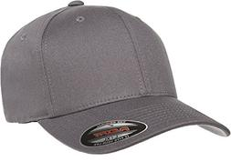 Flexfit/Yupoong Men's Cotton Twill Fitted Cap, Gray, Small/M