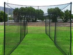 Fortress 55' Baseball Batting Cage  - Heavy Duty Net with St