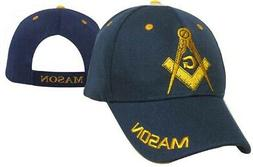 FREEMASON NAVY BLUE EMBROIDERED ADJUSTABLE HAT mason masonic