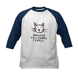f46af8cff25 CafePress - Future Crazy Cat Lady Kids Baseball