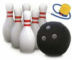 Kleeger Giant Bowling Game Set: Inflatable Bowling Ball and