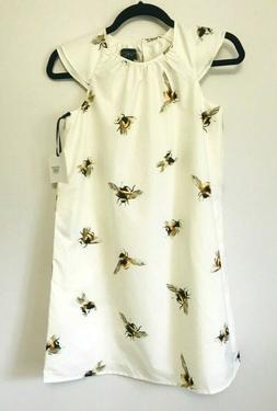 Victoria Beckham for Target Girls Bee Print Cap Sleeve Peasa