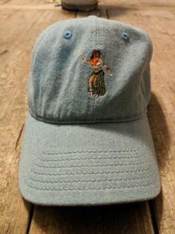Goodfellow And Co. Blue Hawaiian Hula Girl Baseball Cap Hat