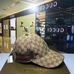 GUCCI HAT Khaki,MEN'S/WOMEN,CANVAS BASEBALL CAP,ADJUSTABLE,S