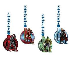 Hanging Avengers Age of Ultron Decorations, Pack of 4 by Uni