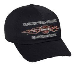 Harley-Davidson® Men's Embroidered B&S Flames Baseball Cap,