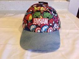 Marvel Hat Baseball Cap Adjustable Strap Hulk Captain Americ