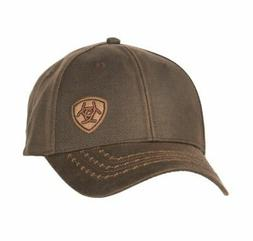 Ariat Mens Hat Baseball Cap Barbed Wire Oilskin Offset Logo