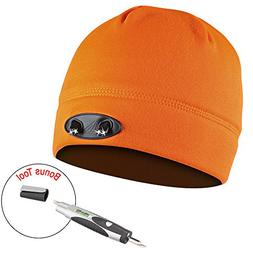 Headlamp Cap Light, 4 LED Beanie Unisex Powercap Hat, Powerf
