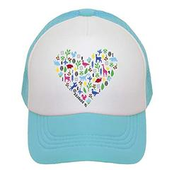 Heart on Toddler Trucker Hat. The Toddler Baseball Cap is Av
