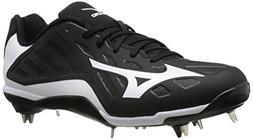 Mizuno Men's Heist IQ Baseball Cleat, Black/White, 8 M US