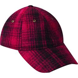 Woolrich Heritage Plaid Baseball Cap Hat Red/Black - Woolric