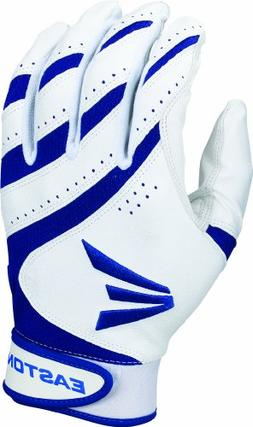 Easton HF VRS Fastpitch Batting Glove, White/Royal, Medium