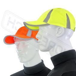 HI-VIS LIME REFLECTIVE HAT BASEBALL CAP SAFETY NEW LIME ORAN